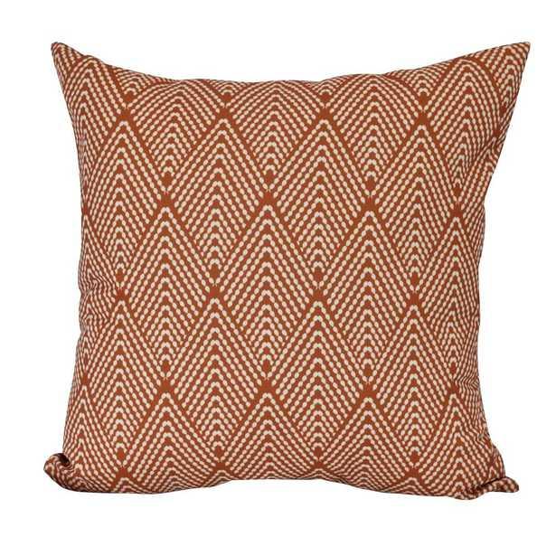 E by Design 16 in. Lifeflor Geometric Print Decorative Pillow, Oranges/Peaches - Home Depot