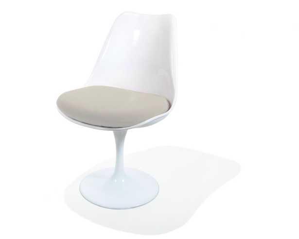 Tulip Side Chair - White Smoky Quartz - Rove Concepts