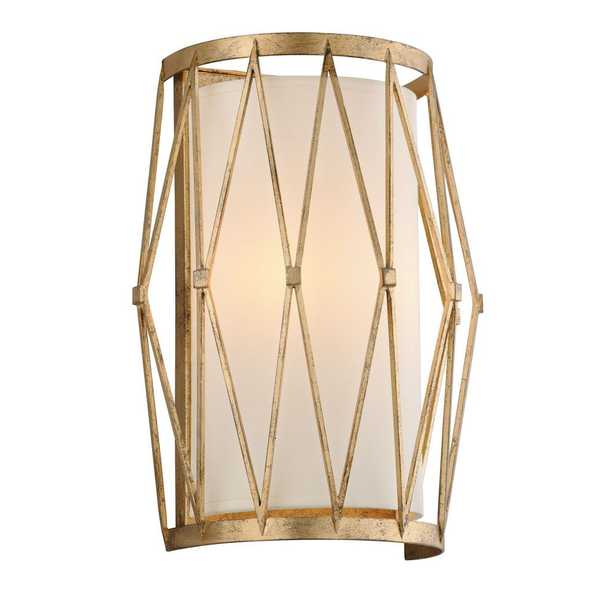 Troy Lighting Calliope 2-Light Rustic Gold Leaf Wall Mount Sconce - Home Depot