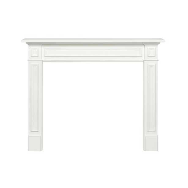 Pearl Mantels The Mike 60 in. x 52 in. MDF White Full Surround Mantel - Home Depot