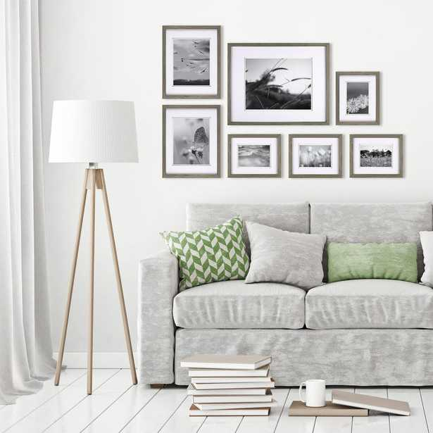 Pinnacle Gallery Perfect Gray Picture Frame (Set of 7) - Home Depot