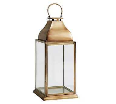Chester Brushed Lantern, Brass - Large - Pottery Barn