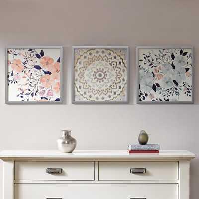 'Summer Bliss' 3 Piece Framed Painting Print Set - Wayfair