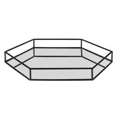 Snyder Mirrored Hexagon Vanity Tray - AllModern