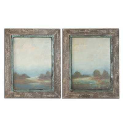 'Morning Vistas' 2 Piece Picture Frame Graphic Art Set - Birch Lane