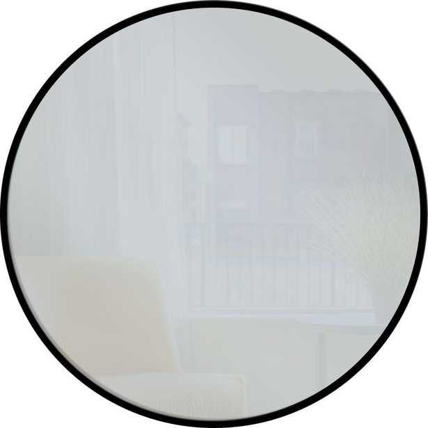 PTM Images 28 in. x 28 in. Black Round Metal Mirror - Home Depot