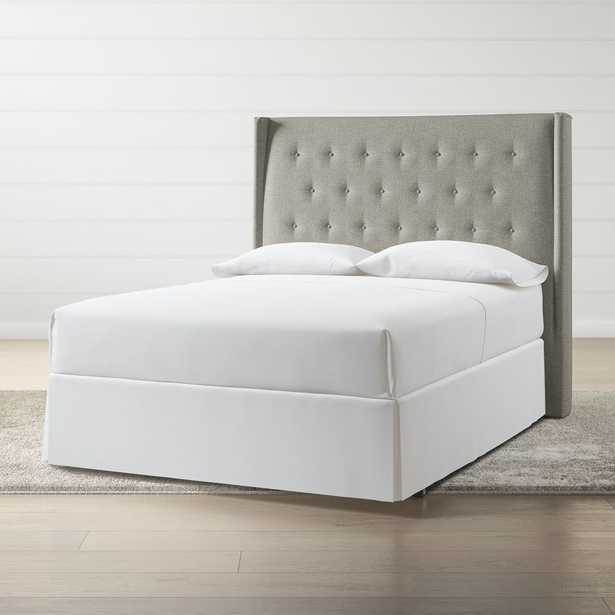 Ronin Queen Tufted Wingback Headboard Grey - Crate and Barrel