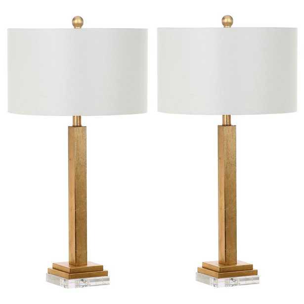 Safavieh Perri 30 in. Gold Crystal Base Table Lamp (Set of 2) - Home Depot