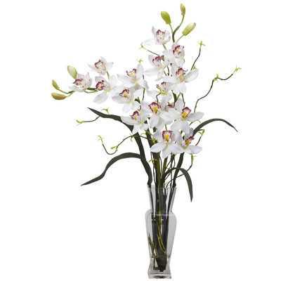 Orchids Floral Arrangement in Vase - Birch Lane
