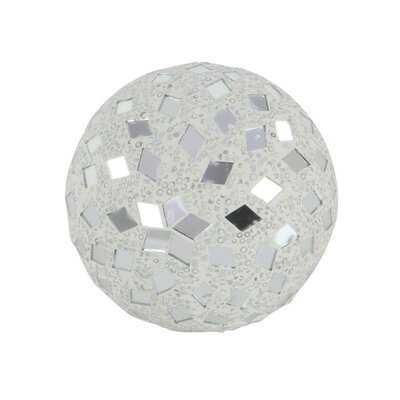 Nelly Mirror Mosaic Decorative Ball (Set of 4) - Wayfair