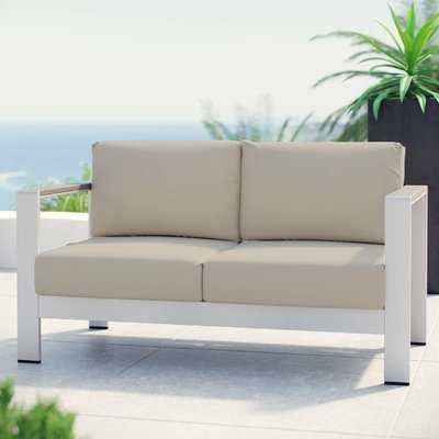 Outdoor Patio Aluminum Loveseat with Cushions - Wayfair