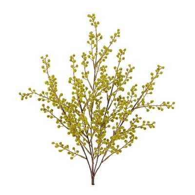 Faux Flocked Berry Branch - Wayfair