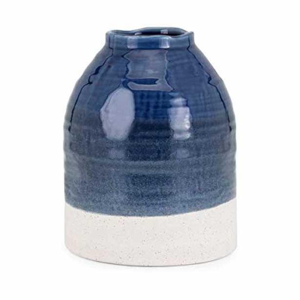 IMAX Carter Blue Large Vase - Home Depot