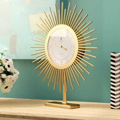 Gold Tabletop Clock - Wayfair