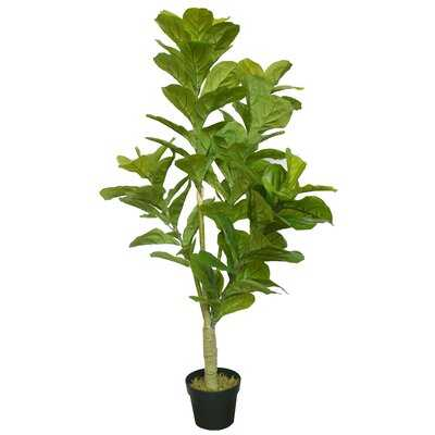 Real Touch Silk Fiddle Leaf Fig Tree in Pot - Wayfair