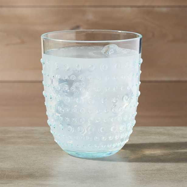 Dottie Aqua Acrylic Drink Glass - Crate and Barrel