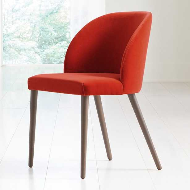 Camille Spice Velvet Dining Chair - Crate and Barrel
