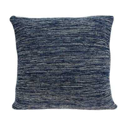 """20"""" X 7"""" X 20"""" Decorative Transitional Blue Pillow Cover With Poly Insert - Wayfair"""