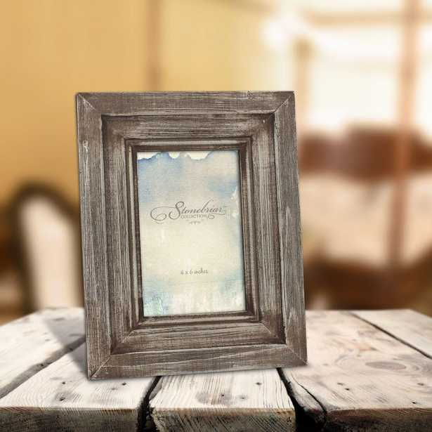 1-Opening 4 in. x 6 in. Brown Weathered Wood Picture Frame - Home Depot