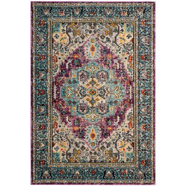 Safavieh Monaco Violet/Light Blue (Purple/Light Blue) 8x10 rug - Home Depot
