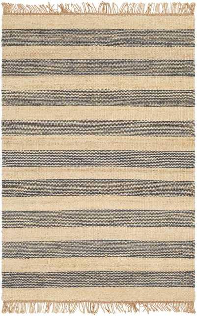 "Whitney Stripe Rug, 8' x 10"", Navy - Cove Goods"