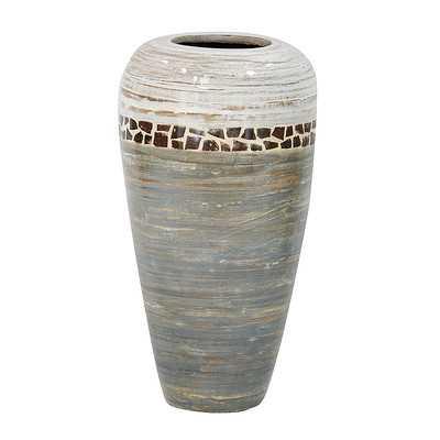 Floor Vase, Antique White/Gray - Wayfair