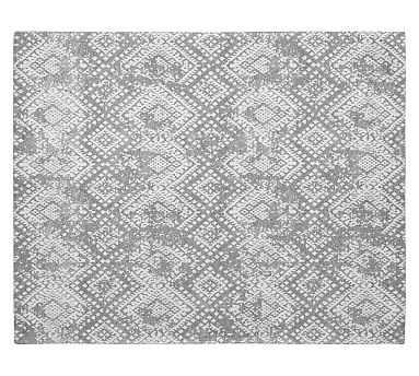Zahara Synthetic Rug, Gray, 8 x 10' - Pottery Barn