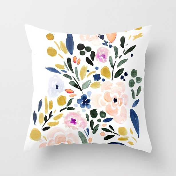 """Sierra Floral Throw Pillow - Indoor Cover (20"""" x 20"""") with pillow insert by Crystalwalen - Society6"""