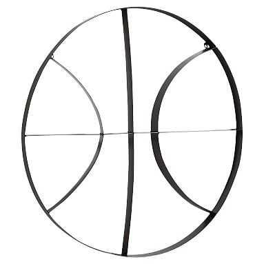 Metal Basketball Wall Decor - Pottery Barn Teen