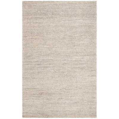 Burner Hand-Woven Light Gray 9' x 12' Area Rug - Wayfair