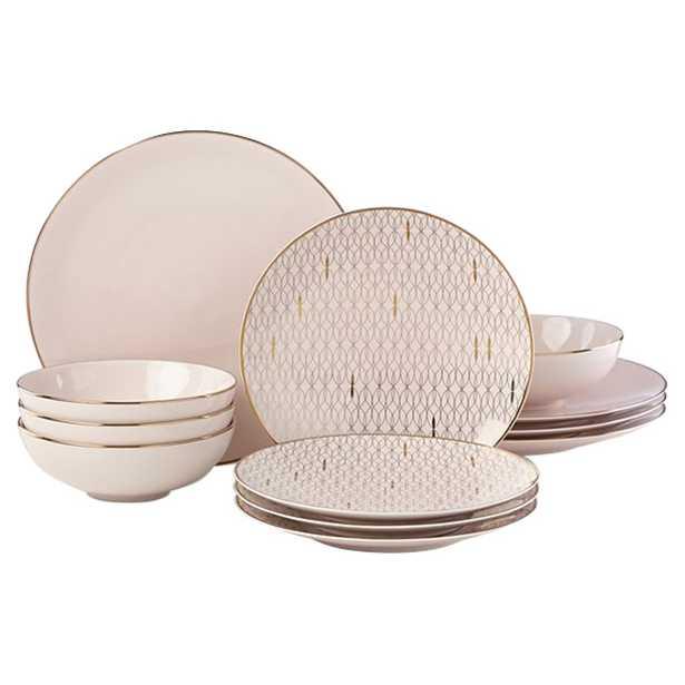 Lenox Trianna Blush 12 Piece Dinnerware Set - Kathy Kuo Home