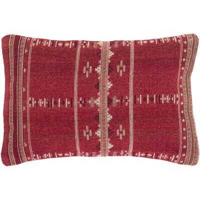 Stebbins Bohemian/Global 22 X 14 Bright Red, Cream Pillow Cover - Wayfair