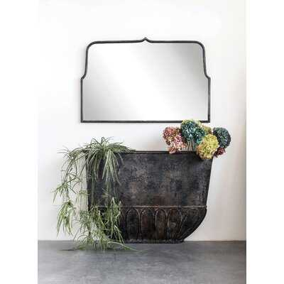 Mcnelly Decorative Wall Mirror With Distressed Black Metal Frame - Wayfair