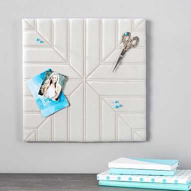 Quilted Pinboard, Square, Linen - Pottery Barn Teen