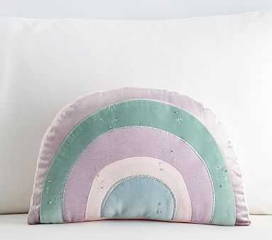 Shaped Rainbow Pillow, 11x16 Inches, Lavender Multi Cl - Pottery Barn Kids