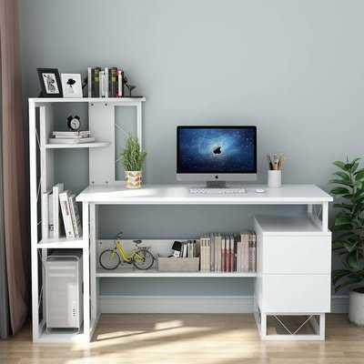 Amalgre Computer Desk with Hutch - Wayfair