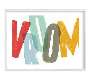 Vroom Wall Art by Minted(R), 40x30, White - Pottery Barn Kids