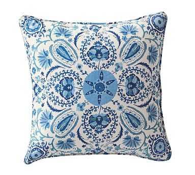 "Adya Suzani Print Pillow Cover, 20"", Blue - Pottery Barn"