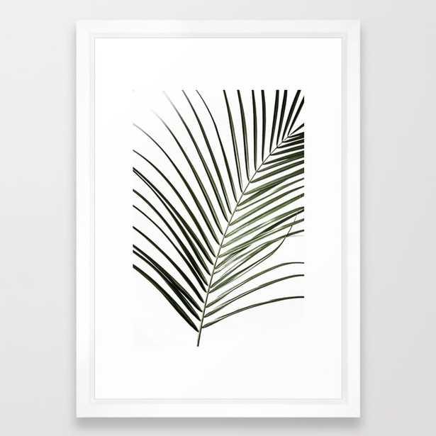 Palm Leaves 8 Framed Art Print by Maboe - Society6