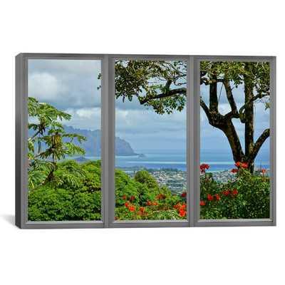 Hawaii Window View Photographic Print on Wrapped Canvas - Wayfair