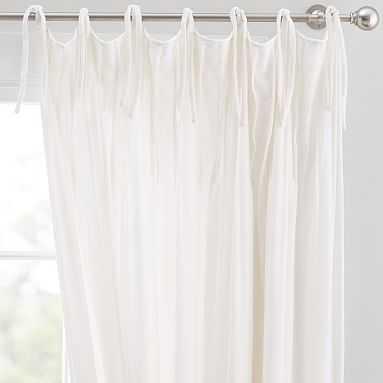 """Shimmer Velvet Blackout Curtain, 108"""", Ivory - Pottery Barn Teen"""