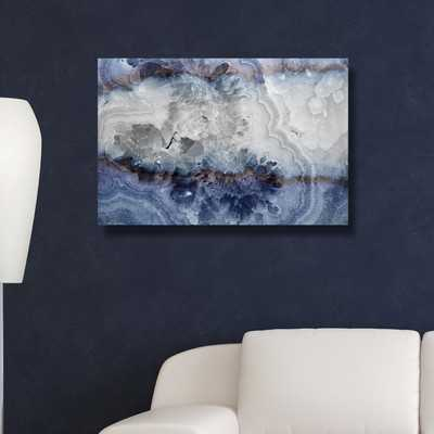 'Lunar Agate' Graphic Art on Wrapped Canvas - Wayfair