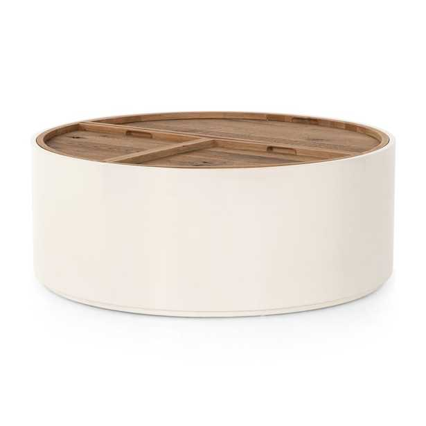 Dean White and Oak Coffee Table - Crate and Barrel