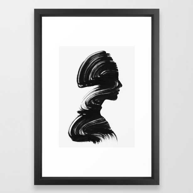 See - Vector Black frame - 15x21 - Society6