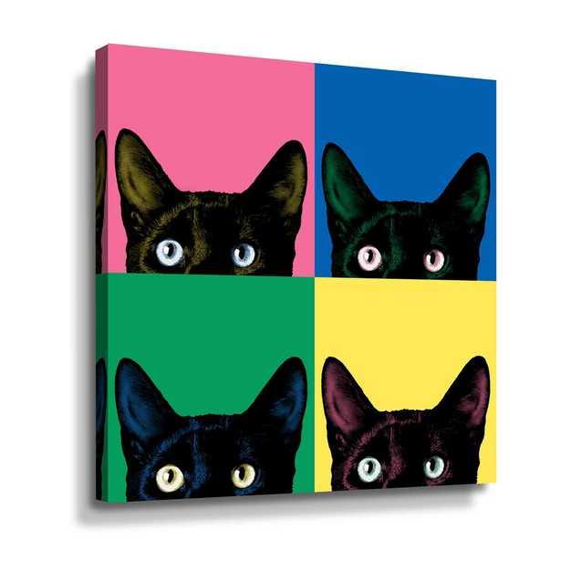 ArtWall Curiosity Pop' by Jon Bertelli Canvas Wall Art, Black - Home Depot