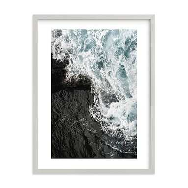 """Pacific Swell Framed Art by Minted(R), 18""""x24"""", Gray - Pottery Barn Teen"""