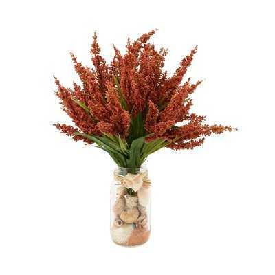 Heather Floral Arrangements in Mason Jar - Birch Lane