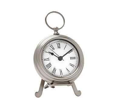 Pocket Watch Clock, Small, Pewter finish - Pottery Barn