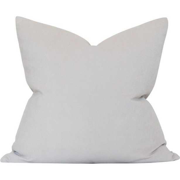 Light Greige Performance Velvet - 20x20 pillow cover - Arianna Belle