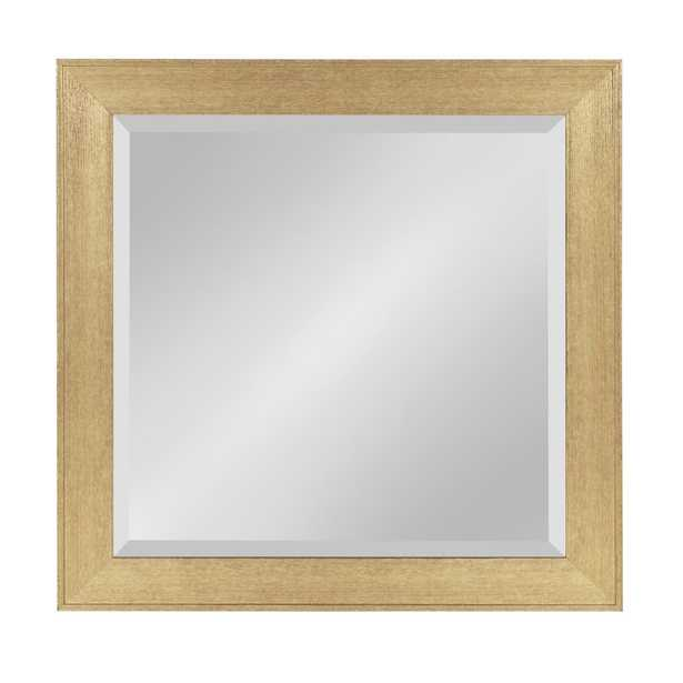 Coppell Rectangle Gold Mirror - Home Depot